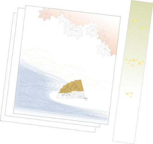 C14-05 Poem Paper: Maple with Fan-0
